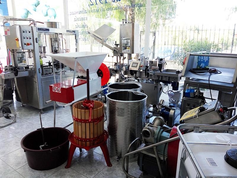 maquinaria para elaboración vino, aceite, cerveza y cava para pequeños productores que se inician en el sector
