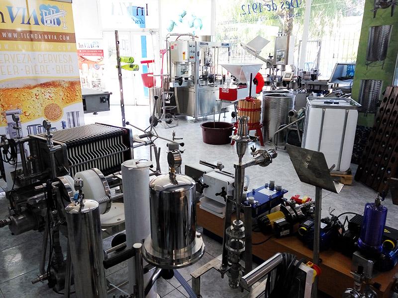 maquinaria para elaboración vino, aceite, cerveza y cava para pequeñoas productores que se inician en el sector