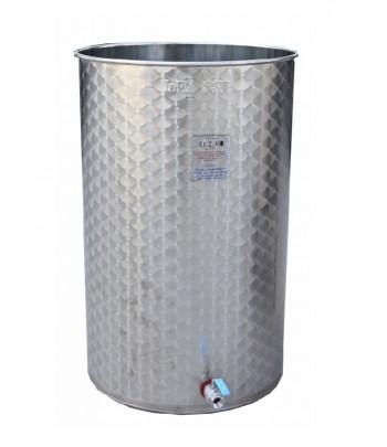 Depósitos para vino acero INOX 304 fondo plano con tapa polvo