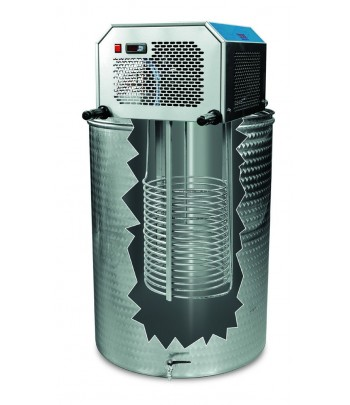 Equipo extraible para refrigerar mostos, vinos o agua glicolada
