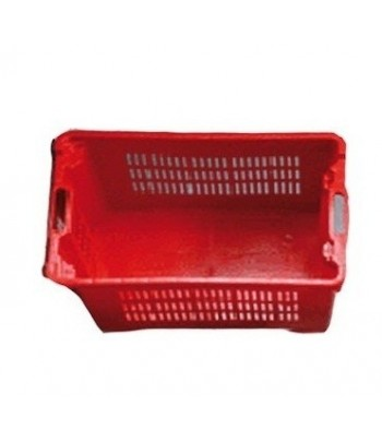 cajas vendimia plástico alimentario laterales rejilla, base cerrada