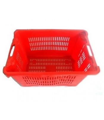 cajas de vendimia plastico alimentario laterales y base rejilla