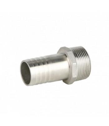 GAZ INOX adaptateur hexagonal mâle / cannelé