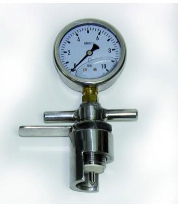 Afrómetro para medir presion en botellas de espumoso