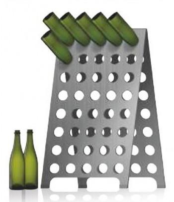 Pupitres acier inox pour bouteilles champagne 120 trous