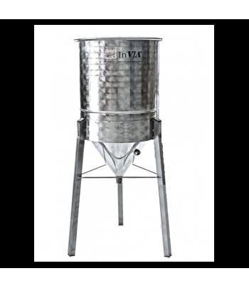 Depósitos de acero con fondo cónico 60º para decantar aceite de oliva