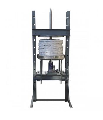 Prensa hidraulica con capachos para pasta de aceitunas