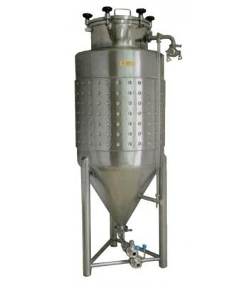Depósitos fermentadores isobáricos con camisa de refrigeracion para hacer cerveza o vinos espumosos