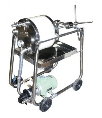 Filtres à plaques de 310 mm pour filtrer l'huile d'olive avec pompe à engrenages
