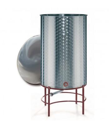 Réservoirs d'huile à fond conique et couvercle de plaque