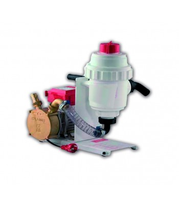 Filtre cloche plastique avec treillis INOX et pompe