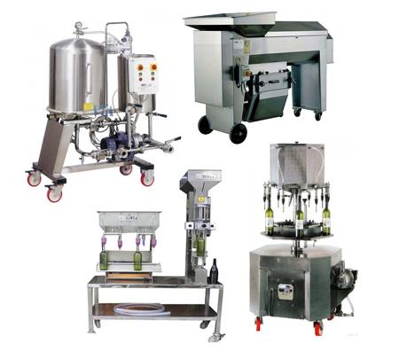 Maquinaria industrial para elaborar vino